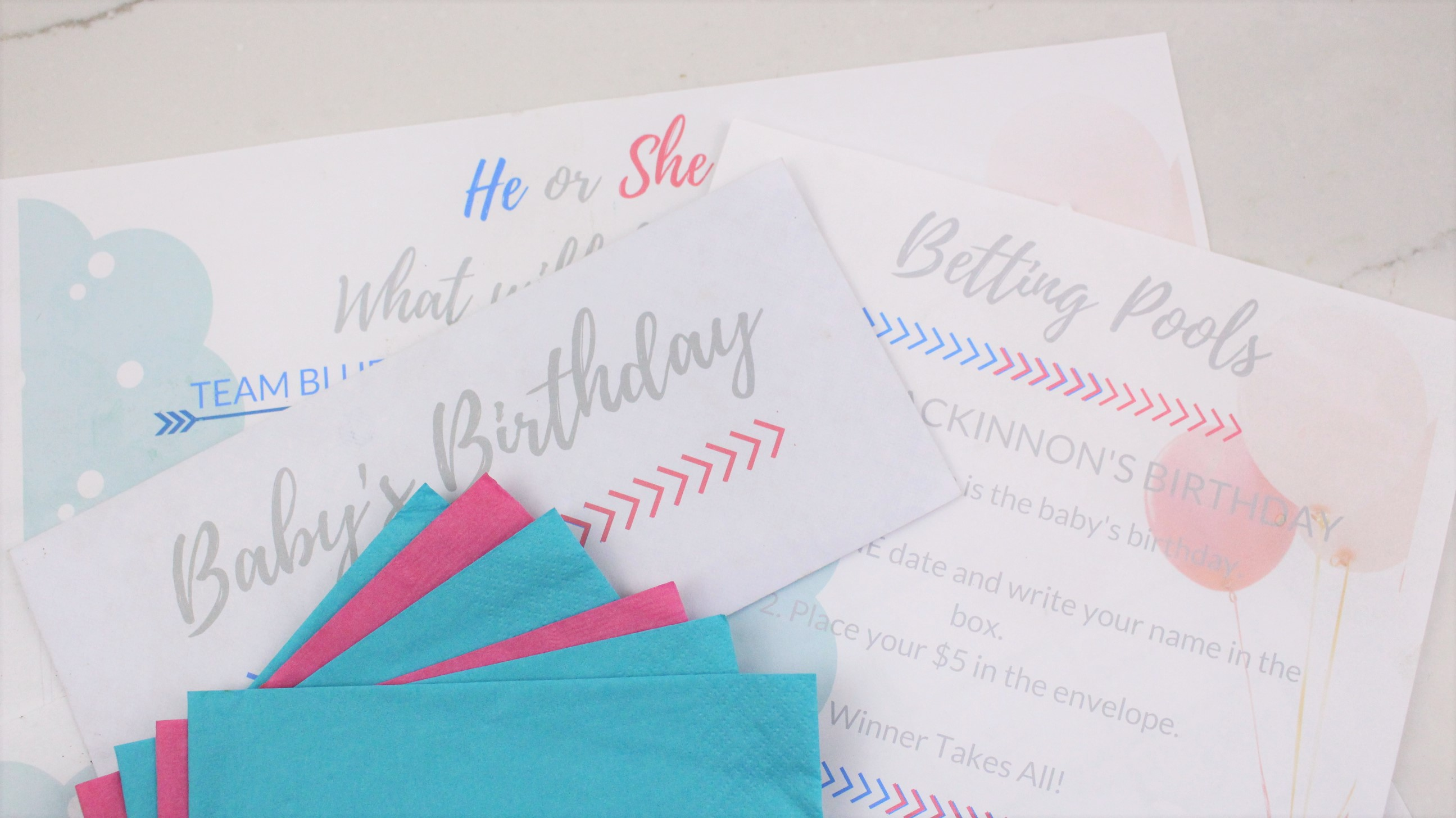 Low Key Gender Reveal Party Tips.