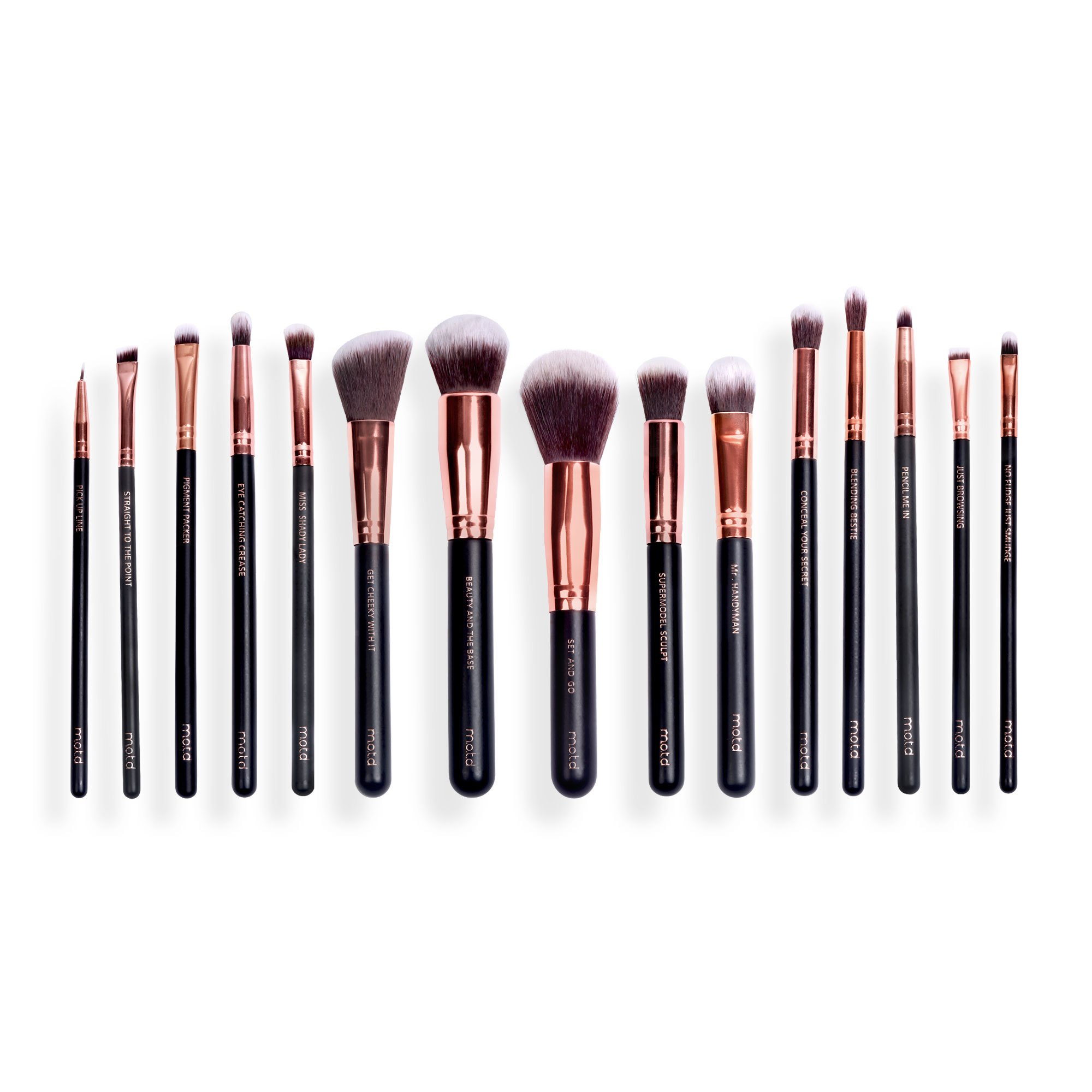 Luxe makeup brushes