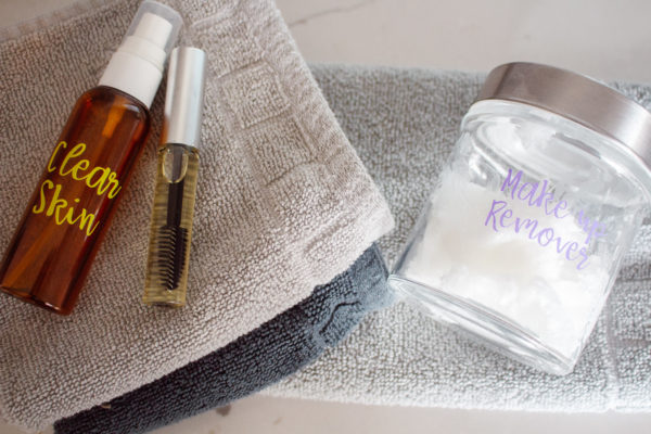 5 essential oil skin care DIY's including makeup remover, acne serum, scar minimizer, and lash serum.