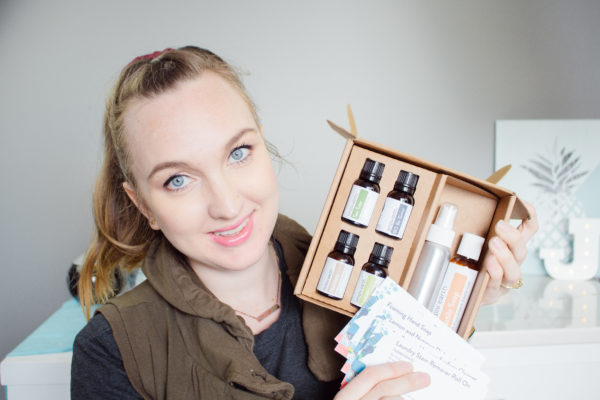 April essential oil subscription box unboxing.